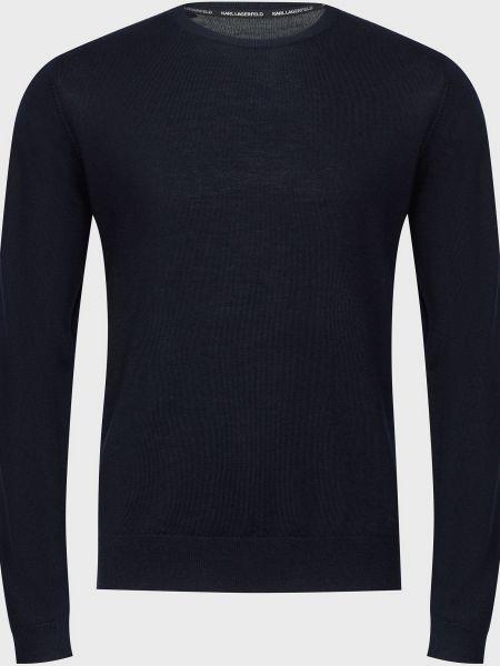 Шерстяной свитер - синий Karl Lagerfeld