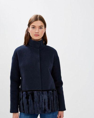 Пальто - синее Emi