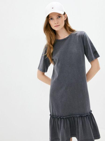 Платье серое футболка Sela