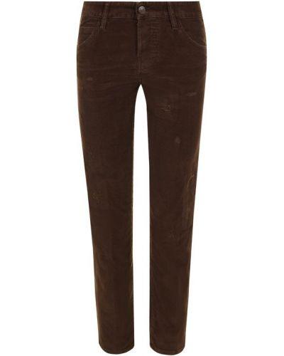 Укороченные брюки прямые хлопковые Dsquared2