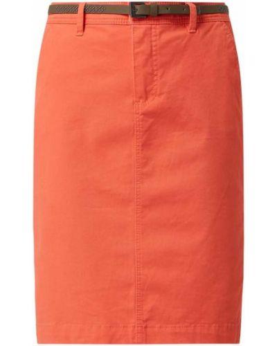 Różowa spódnica ołówkowa z paskiem bawełniana Montego