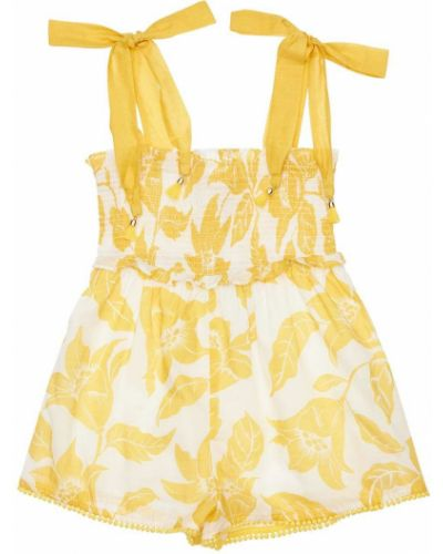 Bawełna bawełna żółty kombinezon na paskach Zimmermann