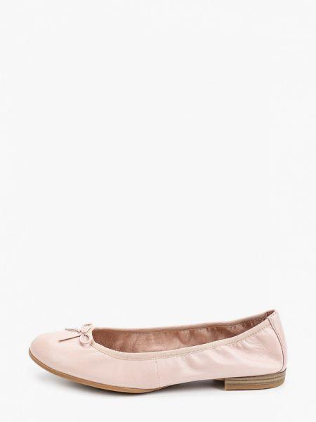 Балетки кожаные розовый Tamaris