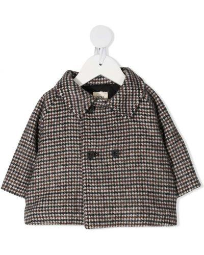 Шерстяное пальто классическое двубортное с воротником Douuod Kids