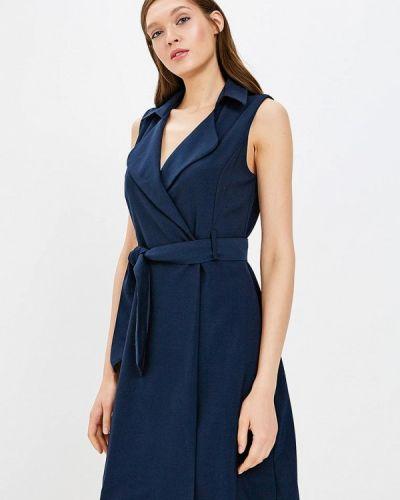 Синее платье осеннее Zarina