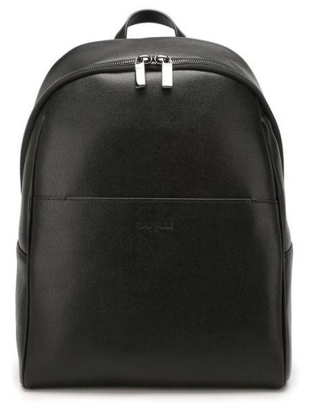 Кожаный черный рюкзак Canali