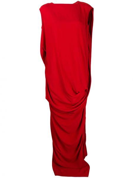 Вечернее платье с вырезом с драпировкой Rick Owens
