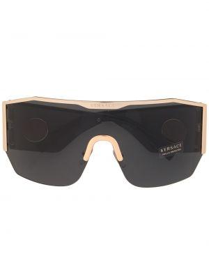 Черная маска для кожи вокруг глаз свободного кроя Versace Eyewear