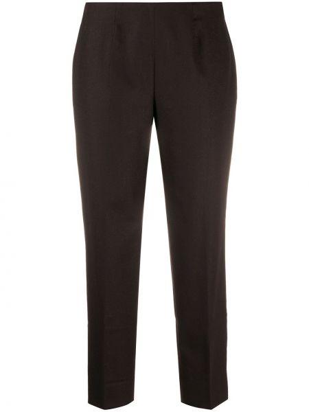 Брючные шерстяные коричневые укороченные брюки Piazza Sempione