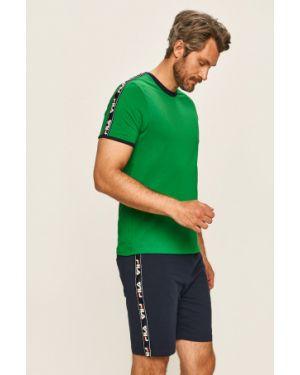 Zielona piżama bawełniana Fila