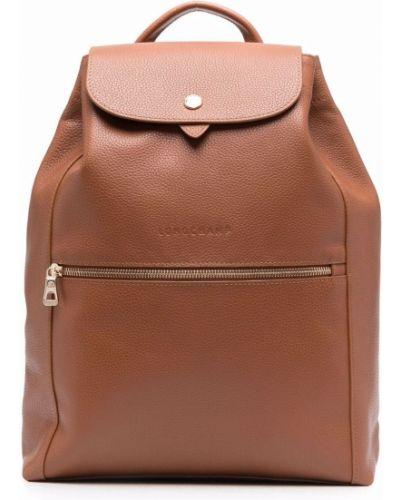 Кожаная сумка - коричневый Longchamp
