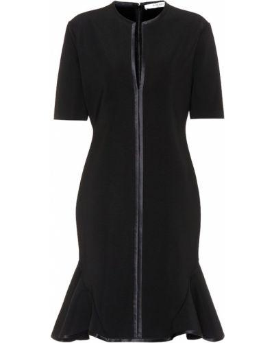 Czarny sukienka z wiskozy rozciągać Givenchy