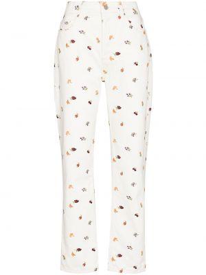 Прямые джинсы классические - белые Reformation