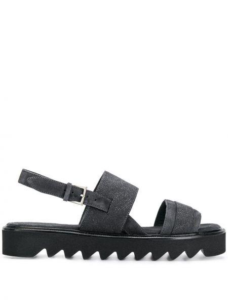 Sandały z klamrami czarne Peserico