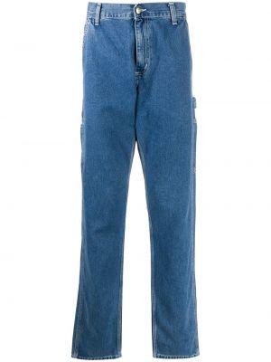 Bawełna niebieski jeansy z łatami z paskiem Carhartt Wip