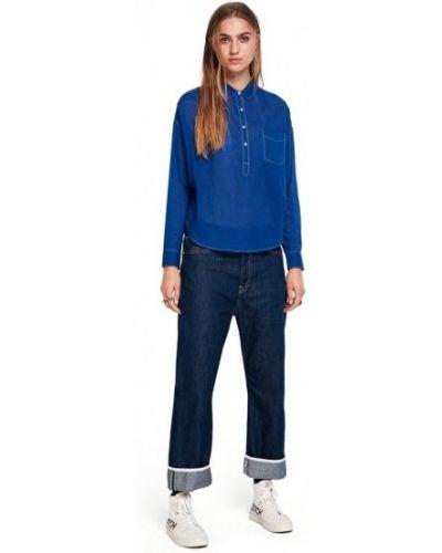 Рубашка с длинным рукавом - синяя Scotch&soda