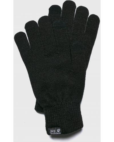 Skórzany rękawiczki akryl czarny Jack Wolfskin