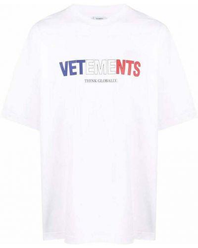 Biała t-shirt Vetements