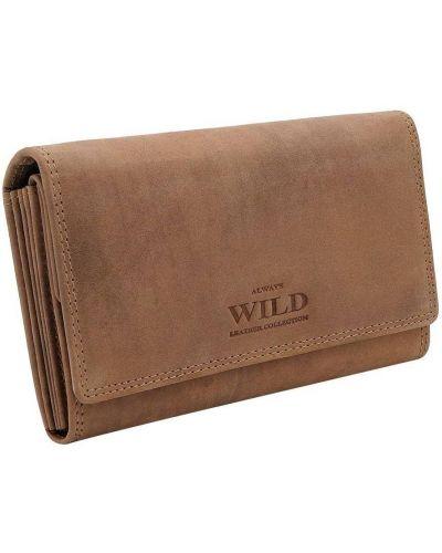 Portfel skórzany - brązowy Always Wild