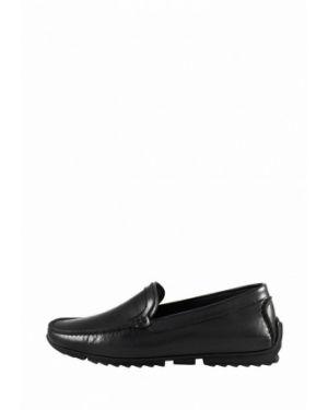 Черные кожаные мокасины Cliford