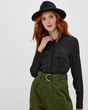 Блузка с длинным рукавом черная Sh