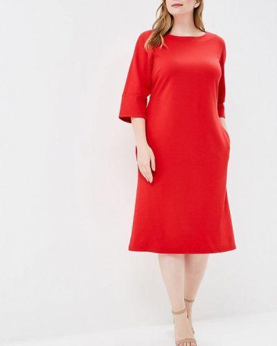 Платье вязаное красный Matilda