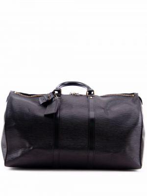 Черная дорожная сумка с логотипом Louis Vuitton