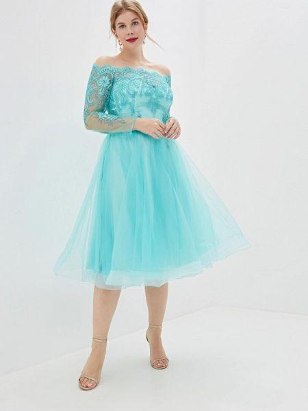 Вечернее бирюзовое вечернее платье Milomoor