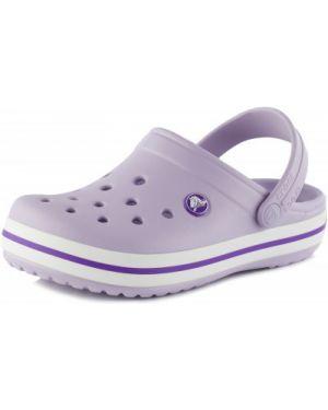 Фиолетовые шлепанцы Crocs