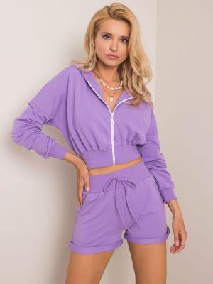 Dres bawełniany - fioletowy Fashionhunters
