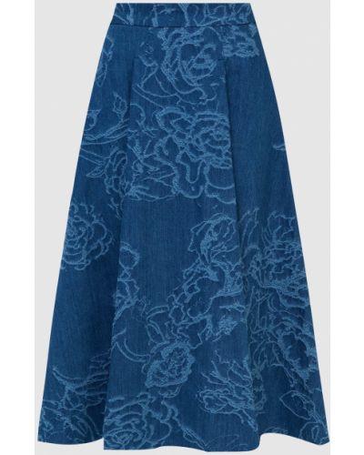 Джинсовая юбка миди - синяя Max & Co