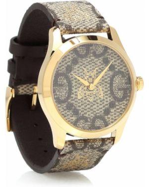Часы с цветочным принтом Gucci