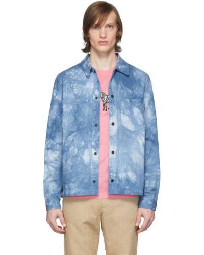 Z rękawami kurtka jeansowa z kołnierzem z kieszeniami z łatami Ps By Paul Smith