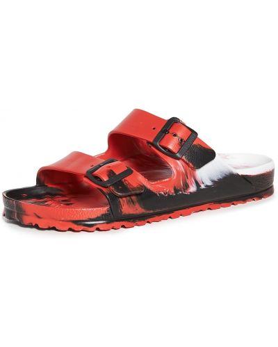 Czarne sandały klamry Birkenstock