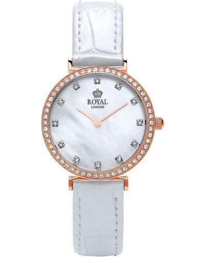 Часы на кожаном ремешке кварцевые водонепроницаемые Royal London