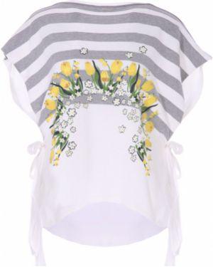 Блузка с коротким рукавом с цветочным принтом короткая High