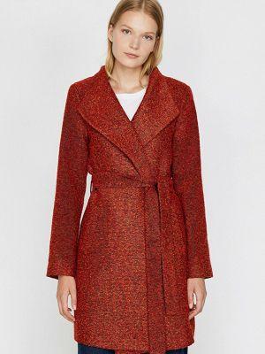 Коричневое демисезонное пальто Koton