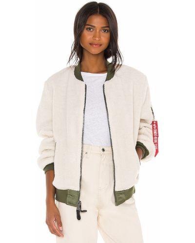 Белая куртка милитари двусторонняя Alpha Industries