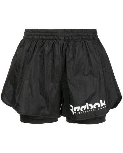 Шорты с карманами - черные Reebok
