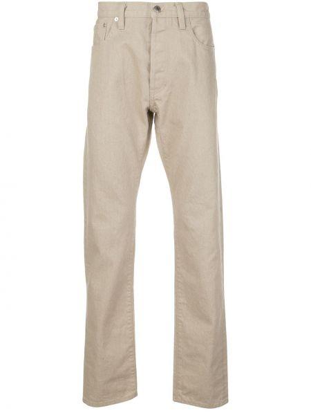 Beżowe jeansy bawełniane z paskiem Simon Miller