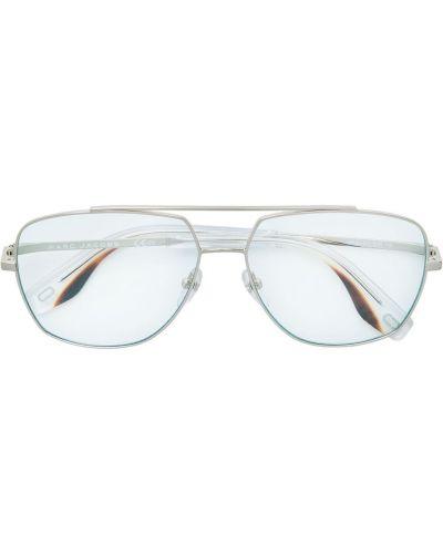 Золотистые прямые желтые солнцезащитные очки металлические Marc Jacobs Eyewear