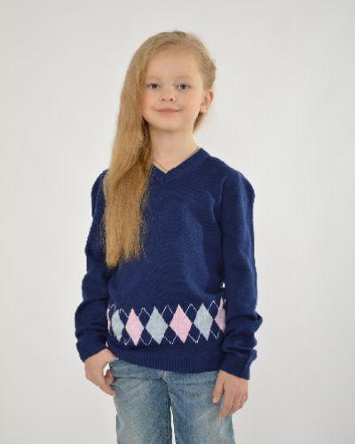 Пуловер темно-синий S`cool