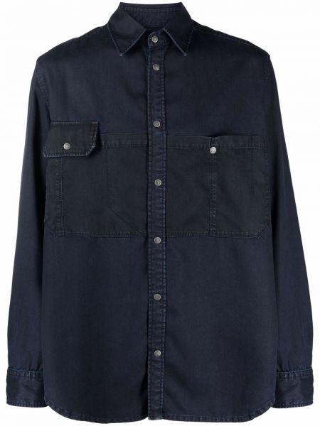 Джинсовая рубашка длинная - синяя Diesel