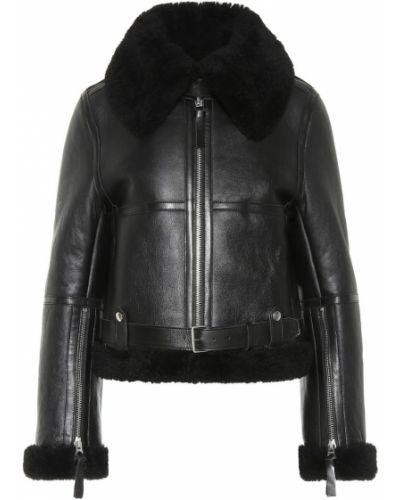 Кожаная куртка черная с подкладкой Acne Studios