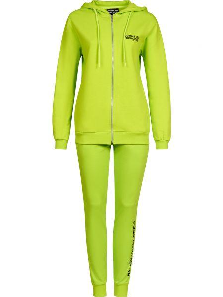 Костюмный зеленый костюм на молнии Comme Des Fuckdown