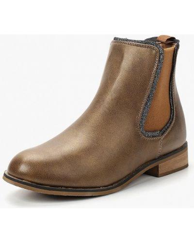 Ботинки челси осенние коричневые Topway