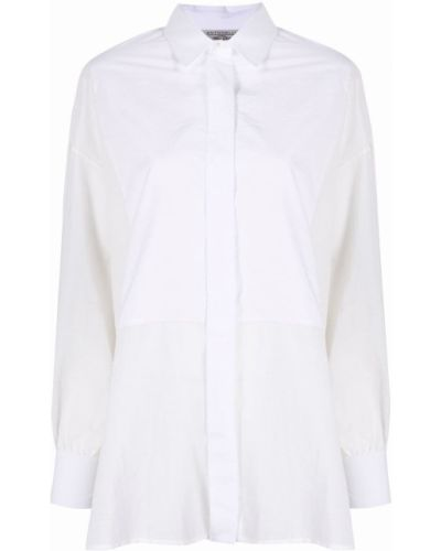 Хлопковая белая классическая рубашка с воротником Antonelli