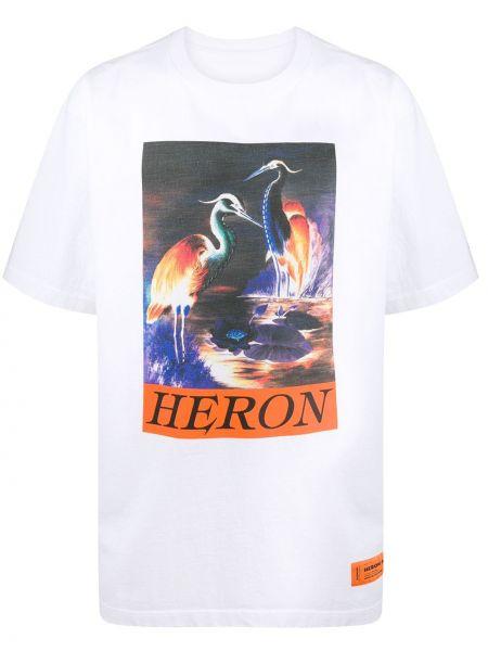 Bawełna biały prosto koszula krótkie z krótkim rękawem krótkie rękawy Heron Preston