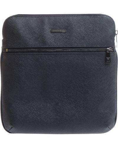Кожаная сумка текстильная на молнии Armani Jeans