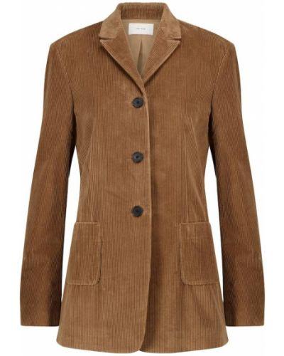 Ватный коричневый пиджак вельветовый The Row